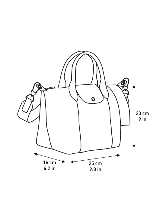 Longchamp - Le Pliage Cuir Top Hadle Bag S - Nahkalaukku - SIENNA | Stockmann - photo 4