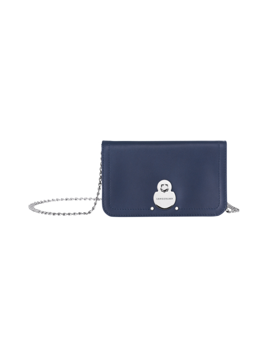 Longchamp - Cavalcade Wallet On Chain - Nahkalaukku - NAVY | Stockmann - photo 1