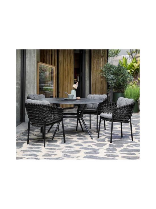Cane-Line - Joy-ruokapöytä 144 halk x 72 cm - LAVA GREY TUMMA HARMAA, TUMMA HARMAA KUVIOITU | Stockmann - photo 2