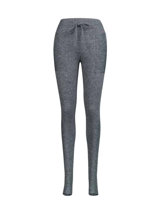 Yvette Helmi leggingsit jalkalenkillä, meleerattu tummanharmaa