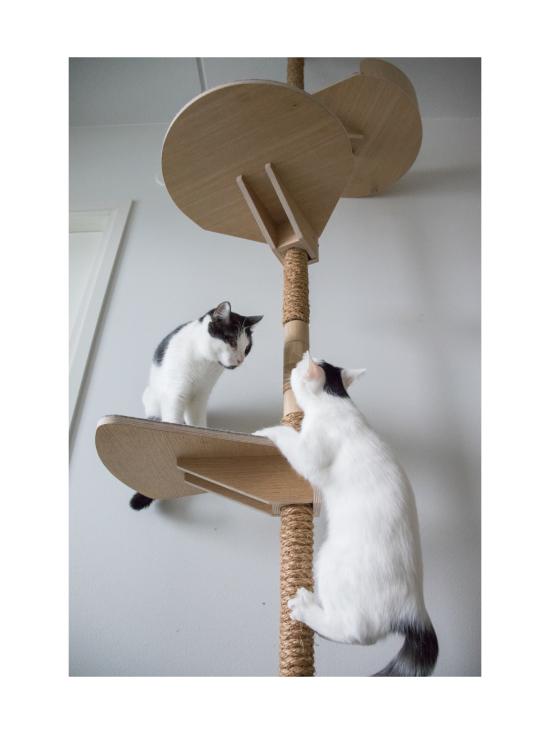 Kissapuu - Kissan Onni kiipeily- ja raapimispuu, koivu & antrasiitti   Stockmann - photo 8