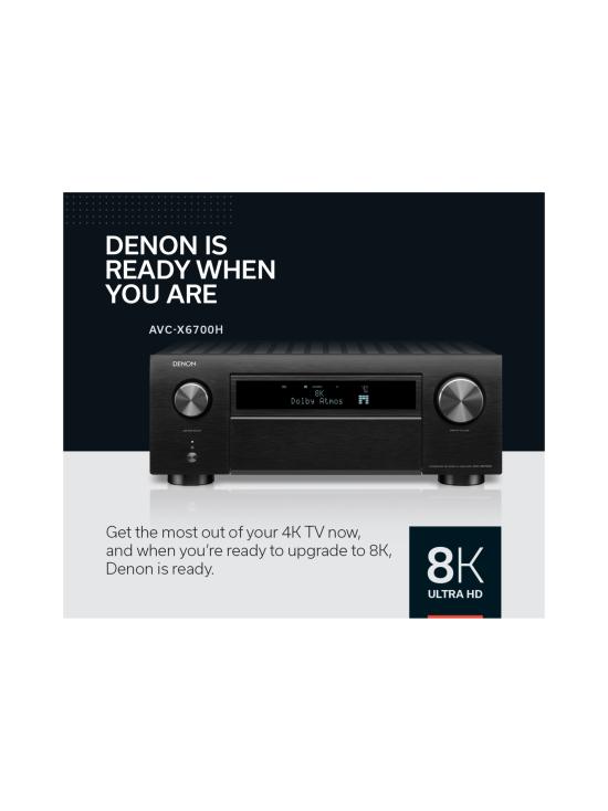 Denon - Denon AVC-X6700H 11.2 AV-vahvistin, hopea | Stockmann - photo 9