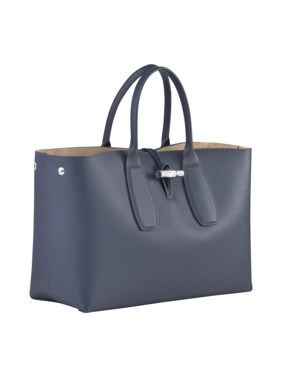Longchamp - Roseau Top Handle Bag L - Nahkalaukku - PILOT BLUE | Stockmann - photo 3