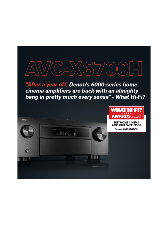 Denon - Denon AVC-X6700H 11.2 AV-vahvistin, hopea | Stockmann - photo 2