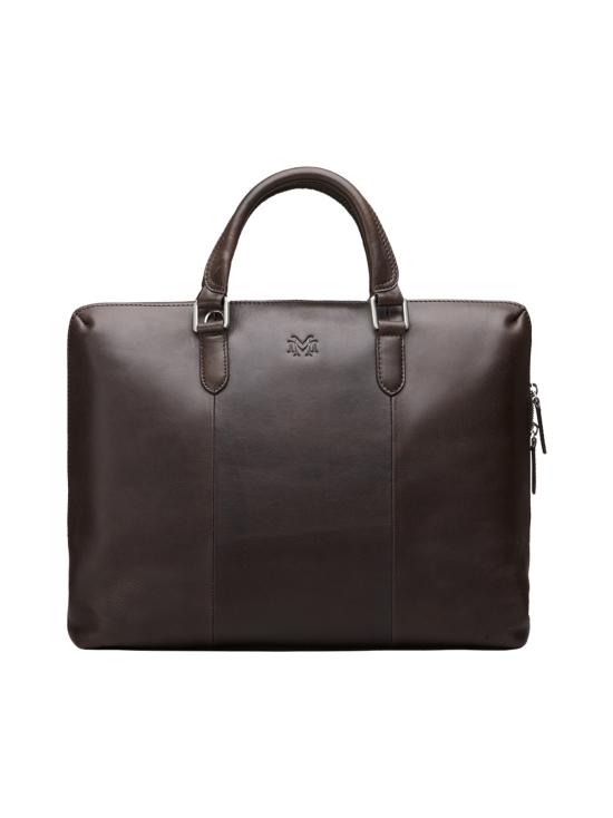 MMV Bags - Luton Briefcase -nahkasalkku - CHOCOLATE (TUMMANRUSKEA) | Stockmann - photo 1