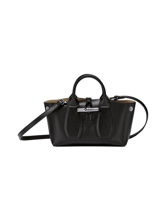Longchamp - Roseau Box Top handle bag XS - Nahkalaukku - BLACK   Stockmann - photo 2