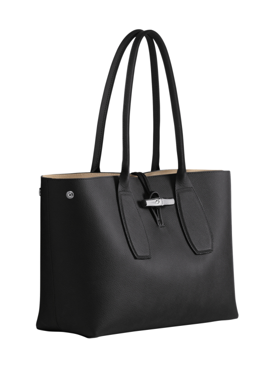 Longchamp - Roseau Shoulder Bag - Nahkalaukku - BLACK | Stockmann - photo 3