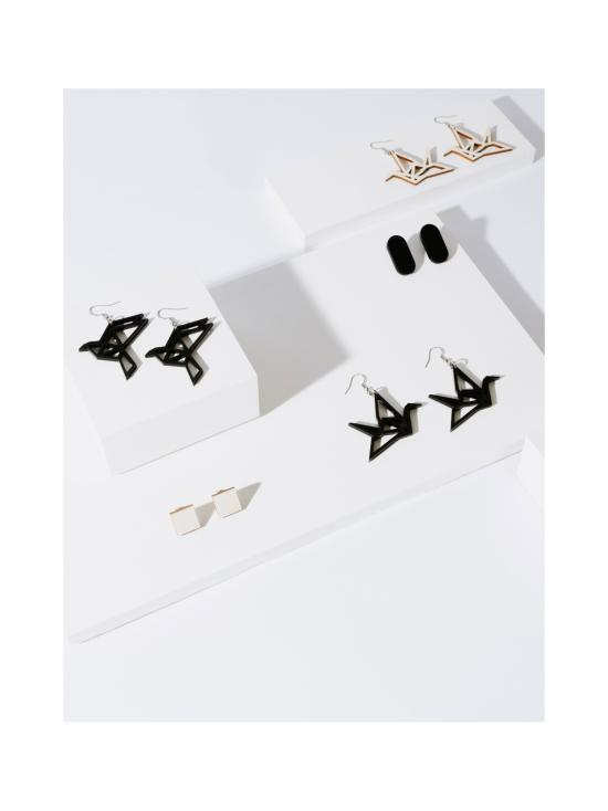 YO ZEN - Origami Dove -korvakorut, musta - MUSTA   Stockmann - photo 3