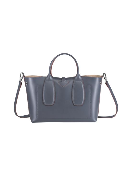 Longchamp - Roseau Box - Top Handle Bag M - Nahkalaukku - GUN METAL | Stockmann - photo 4