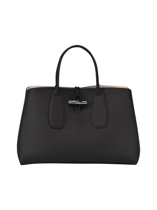 Longchamp - Roseau Top Handle Bag L - Nahkalaukku - BLACK | Stockmann - photo 1