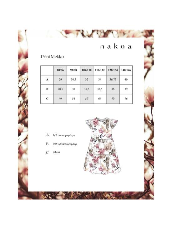 Nakoa - Print Mekko, Magnolia - MAGNOLIA   Stockmann - photo 5