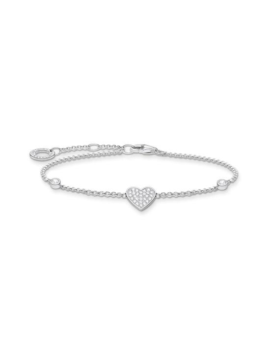 Thomas Sabo - Thomas Sabo Bracelet Heart with Stones -rannekoru | Stockmann - photo 1