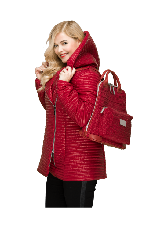 BELIEVE by tuula rossi - CITY Deep Red Stretch Tikkikangas Reppu - DEEP RED, PUNAINEN   Stockmann - photo 10