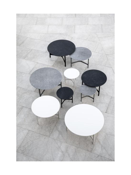 Cane-Line - Twist -sohvapöytä 70 halk x 42 cm - LAVA GREY TUMMA HARMAA, FOSSIL BLACK KUVIOITU MUSTA | Stockmann - photo 2