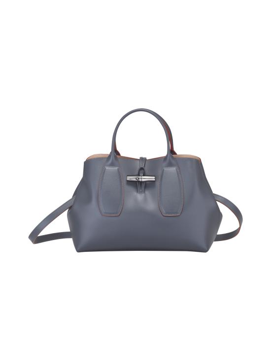 Longchamp - Roseau Box - Top Handle Bag M - Nahkalaukku - GUN METAL | Stockmann - photo 1