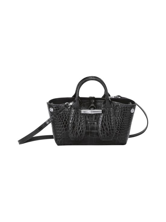 Longchamp - Roseau Croco - Top handle bag XS - Nahkalaukku - BLACK | Stockmann - photo 2