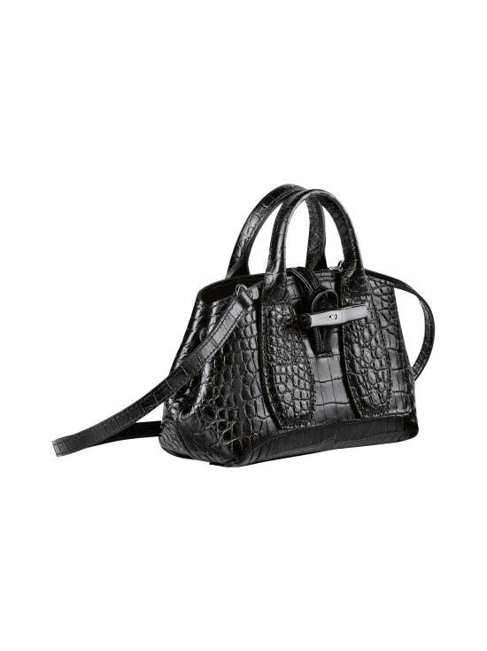 Longchamp - Roseau Croco - Top handle bag XS - Nahkalaukku - BLACK | Stockmann - photo 3