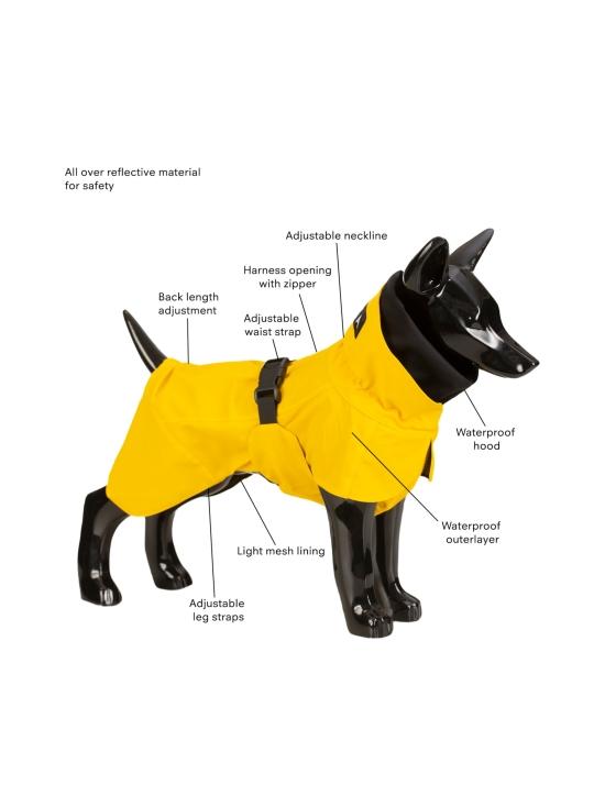 PAIKKA - Visibility Raincoat Lite Yellow for Dogs - 6   Stockmann - photo 3