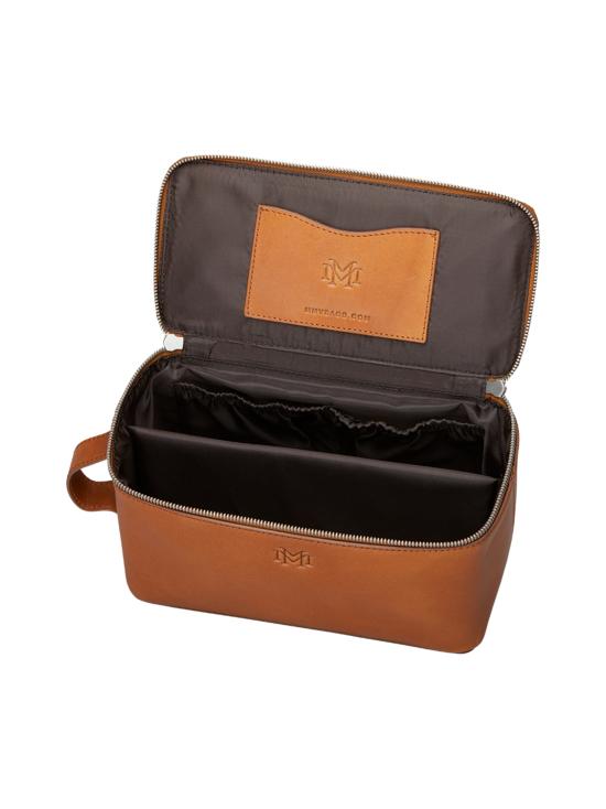 MMV Bags - Luton Leather Washbag -toilettilaukku - COGNAC (KONJAKINRUSKEA) | Stockmann - photo 4