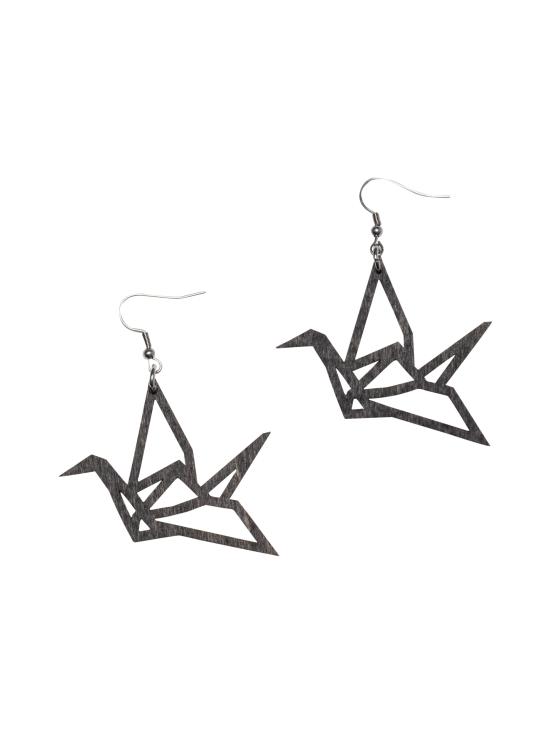YO ZEN - Origami Swan -minikorvakorut, musta puu - MUSTA | Stockmann - photo 1