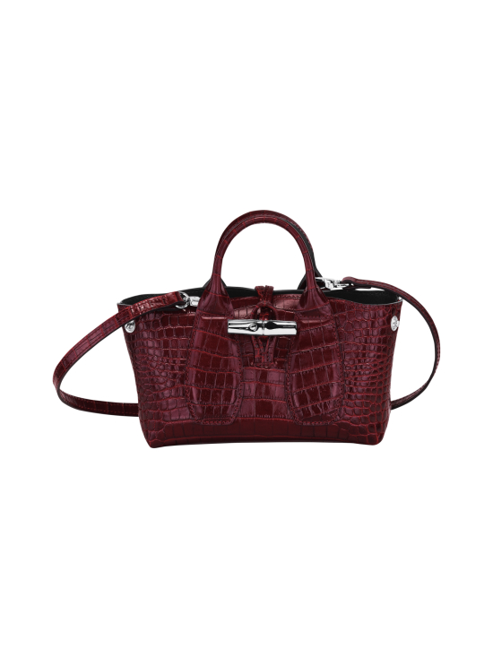 Longchamp - Roseau Croco - Top handle bag XS - Nahkalaukku - BURGUNDY   Stockmann - photo 2