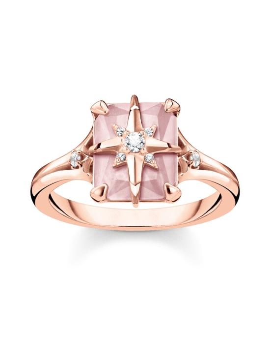 Thomas Sabo - Thomas Sabo Ring Pink Stone with Star -sormus | Stockmann - photo 1