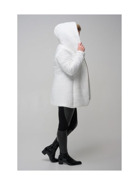 BELIEVE by tuula rossi - CELIA Snow White Hupullinen Mini Stripe Tikattu Takki - OFF-WHITE, VALKOINEN | Stockmann - photo 5