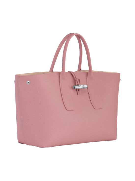 Longchamp - Roseau Top Handle Bag L - Nahkalaukku - ANTIQUE PINK | Stockmann - photo 2