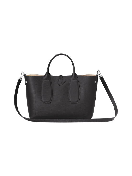 Longchamp - Roseau Top Handle Bag M - Nahkalaukku - BLACK | Stockmann - photo 4
