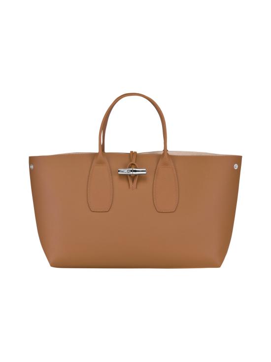 Longchamp - Roseau Top Handle Bag L - Nahkalaukku - NATURAL   Stockmann - photo 2