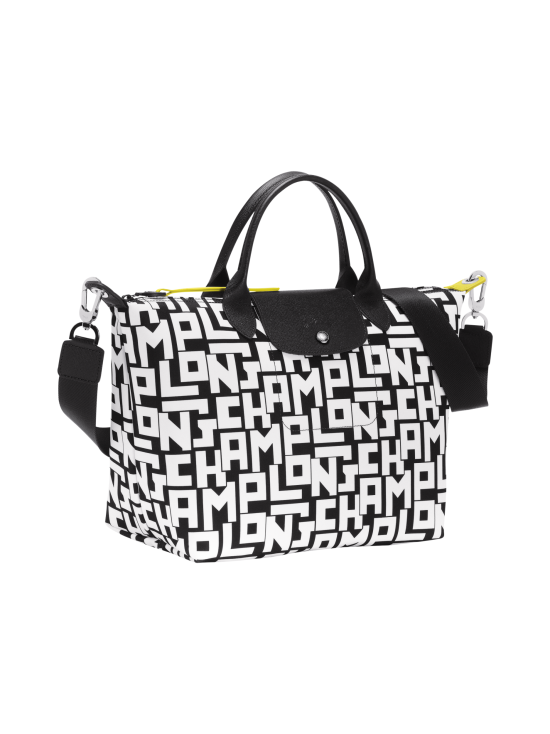 Longchamp - Le Pliage LGP Top Handle Bag M - Käsilaukku - BLACK/WHITE | Stockmann - photo 2