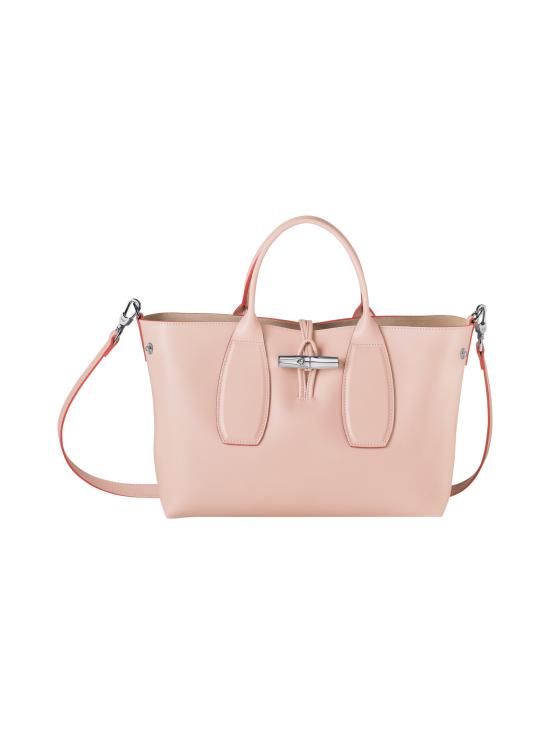 Longchamp - Roseau Box - Top Handle Bag M - Nahkalaukku - POWDER | Stockmann - photo 2