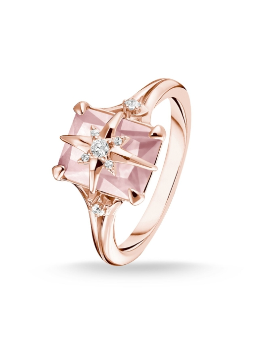 Thomas Sabo - Thomas Sabo Ring Pink Stone with Star -sormus | Stockmann - photo 2
