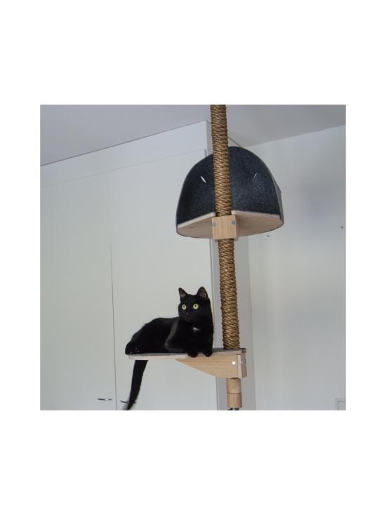 Kissapuu - Kissan Unelma kiipeily- ja raapimispuu, koivu & harmaa | Stockmann - photo 7