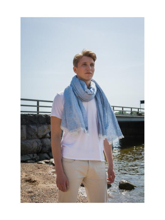 Nordic Swan Living - Pellava silkki -huivi - TUMMANHARMAA | Stockmann - photo 2
