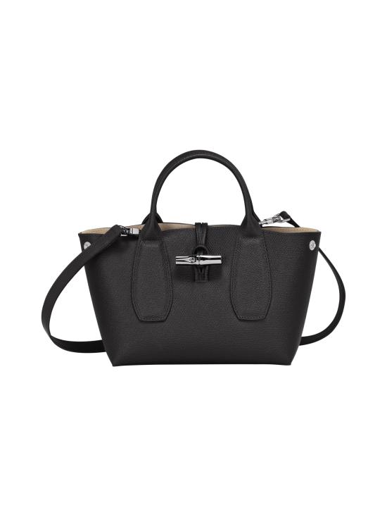 Longchamp - Roseau - Top handle bag S - Nahkalaukku - BLACK | Stockmann - photo 2