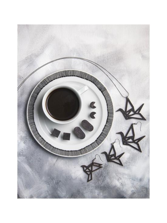 YO ZEN - Origami Swan -minikorvakorut, musta puu - MUSTA | Stockmann - photo 3