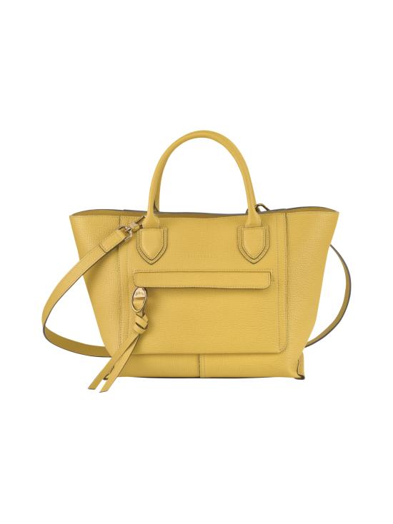 Longchamp - Mailbox Top Handle Bag M - Nahkalaukku - YELLOW | Stockmann - photo 1
