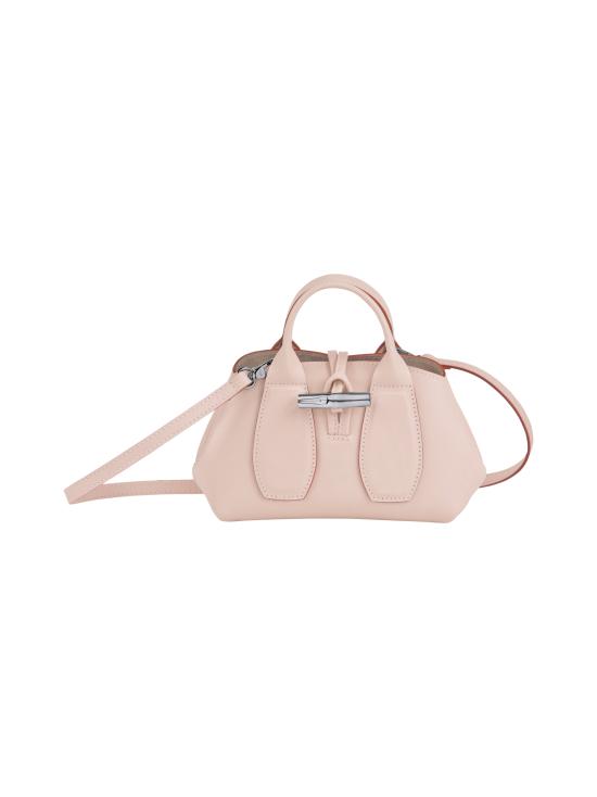 Longchamp - Roseau Box Top handle bag XS - Nahkalaukku - POWDER | Stockmann - photo 1