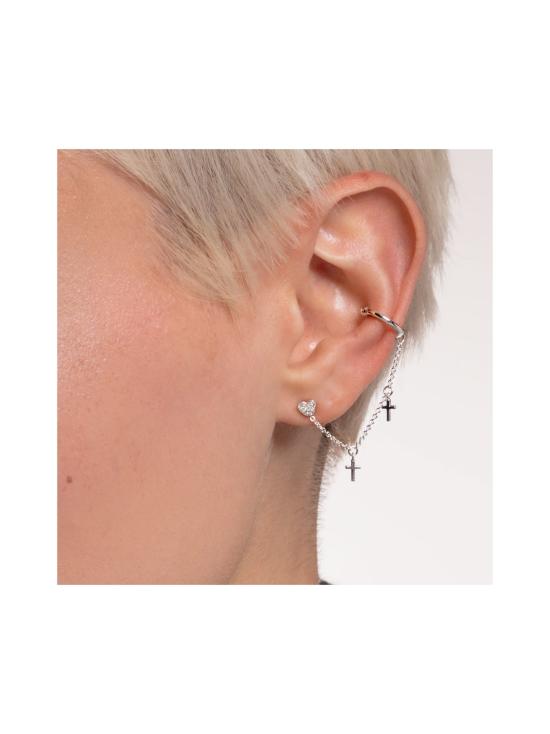 Thomas Sabo - Thomas Sabo Single Ear Stud Heart Pavé Silver -korvakoru   Stockmann - photo 3