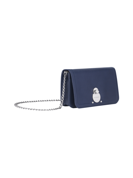 Longchamp - Cavalcade Wallet On Chain - Nahkalaukku - NAVY | Stockmann - photo 2