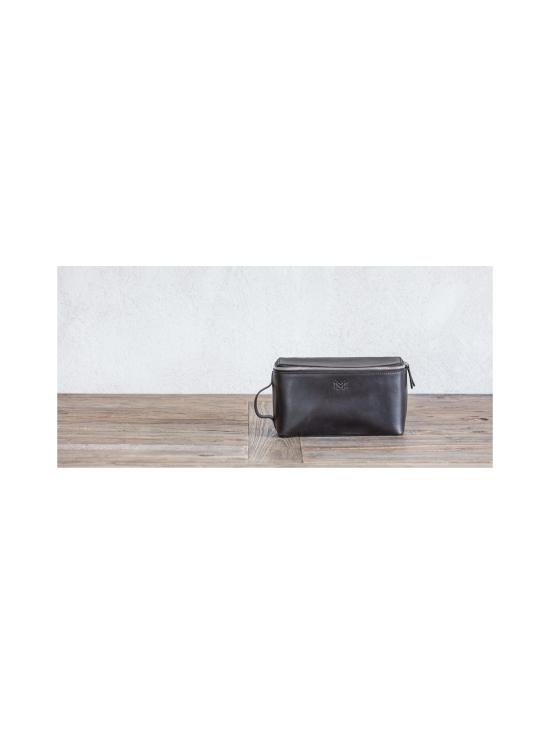 MMV Bags - Luton Leather Washbag -toilettilaukku - CHOCOLATE (TUMMANRUSKEA) | Stockmann - photo 6