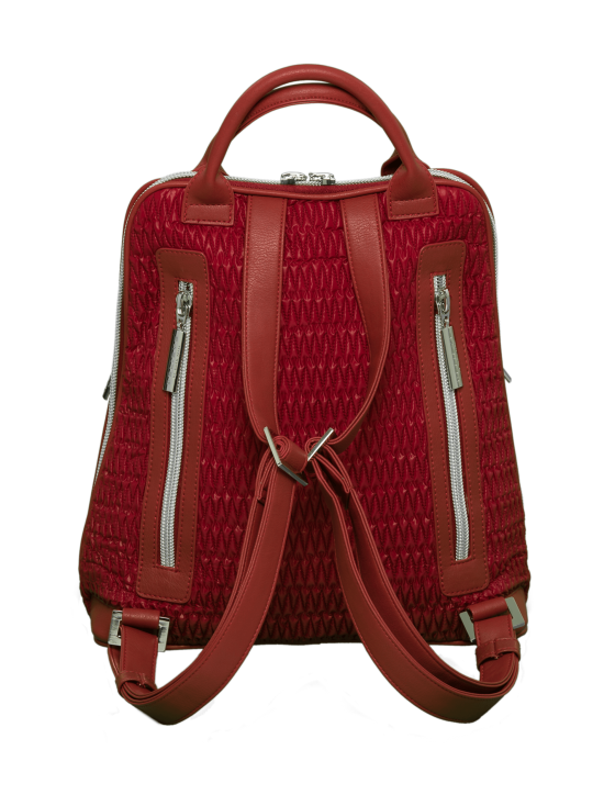 BELIEVE by tuula rossi - CITY Deep Red Stretch Tikkikangas Reppu - DEEP RED, PUNAINEN   Stockmann - photo 3