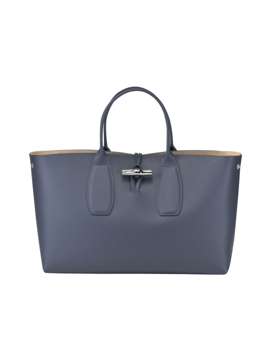 Longchamp - Roseau Top Handle Bag L - Nahkalaukku - PILOT BLUE | Stockmann - photo 2