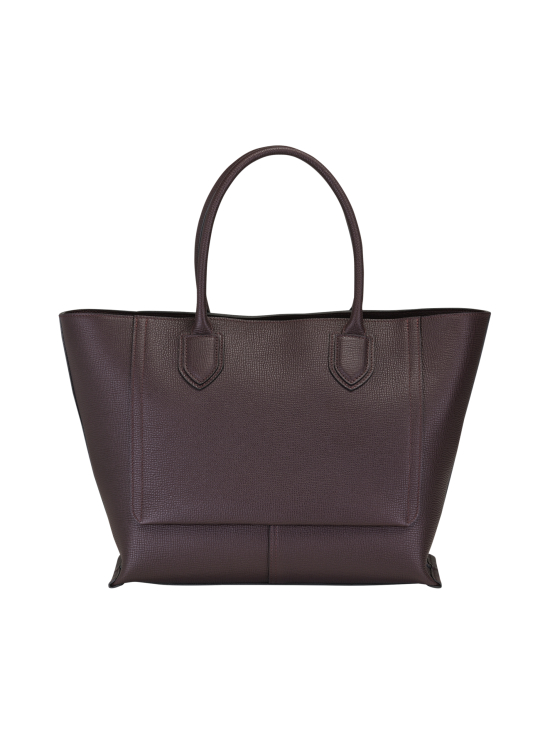 Longchamp - Mailbox Top Handle Bag L - Nahkalaukku - AUBERGINE | Stockmann - photo 3