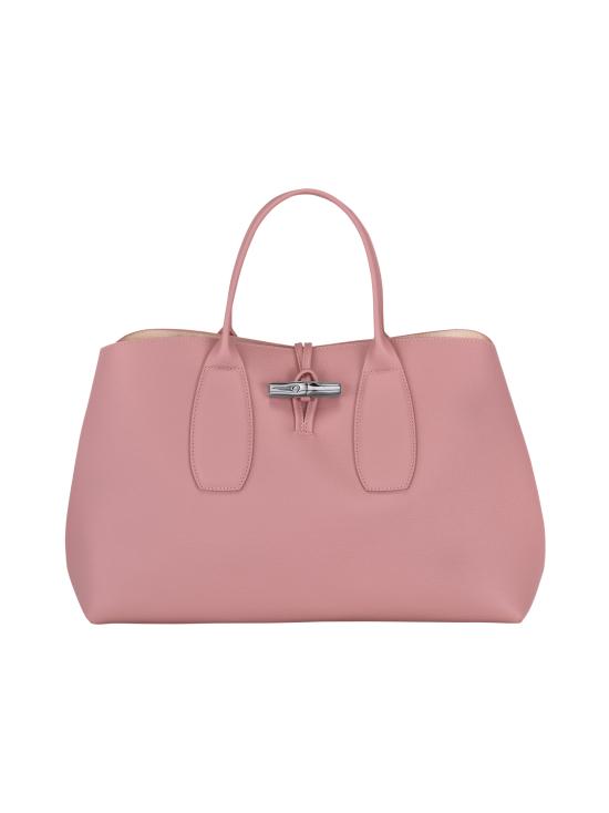 Longchamp - Roseau Top Handle Bag L - Nahkalaukku - ANTIQUE PINK | Stockmann - photo 1
