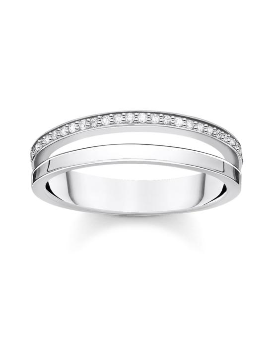 Thomas Sabo - Thomas Sabo Ring double white stones silver -sormus   Stockmann - photo 1