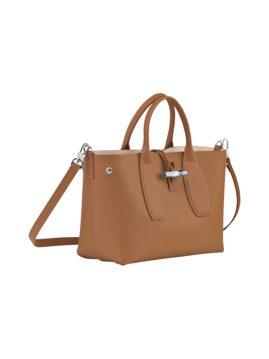 Longchamp - Roseau Top Handle Bag M - Nahkalaukku - NATURAL | Stockmann - photo 3