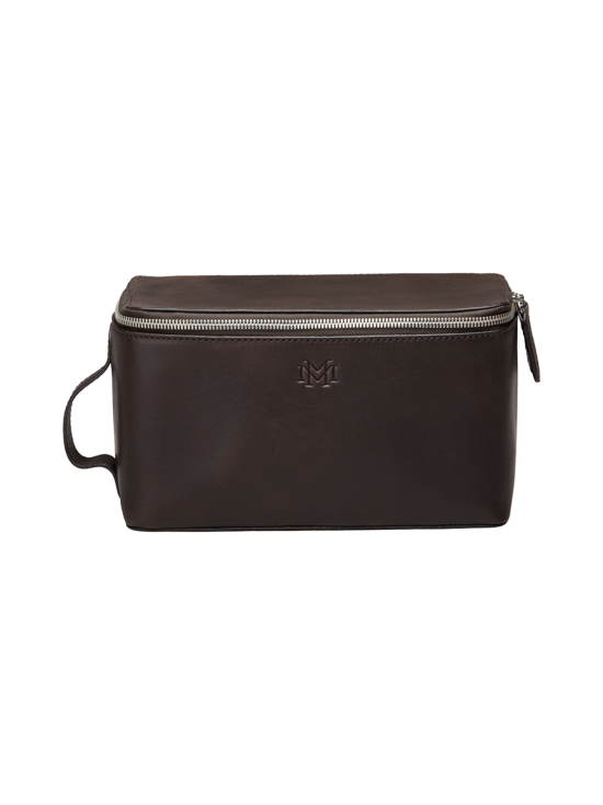MMV Bags - Luton Leather Washbag -toilettilaukku - CHOCOLATE (TUMMANRUSKEA) | Stockmann - photo 1