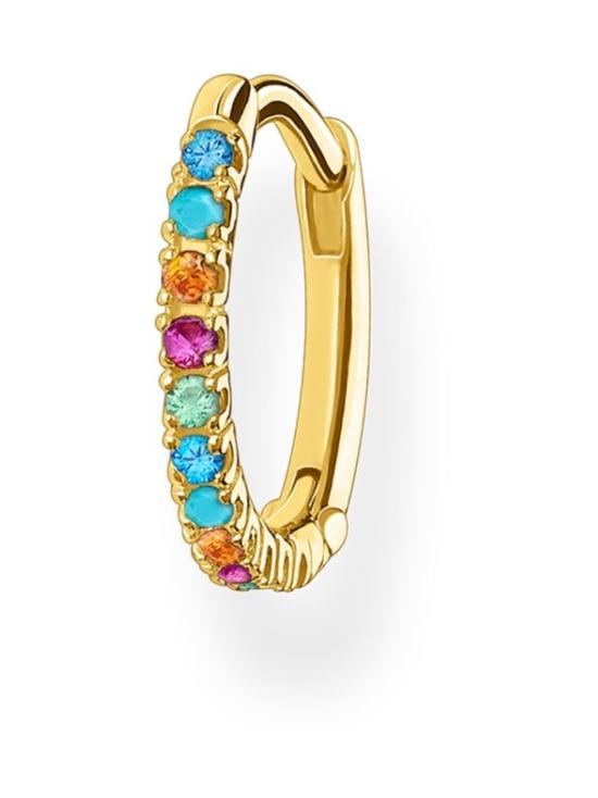 Thomas Sabo - Thomas Sabo Single Hoop Earring Colourful Stones Gold -korvakoru   Stockmann - photo 1